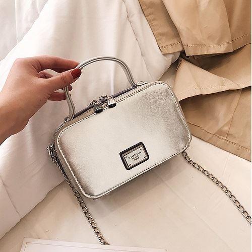 JT1828-silver Tas Sling Bag Tali Rantai Stylish Terbaru