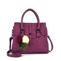 JT18362-purple Tas Hand Bag Wanita Cantik Fashion Import Terbaru