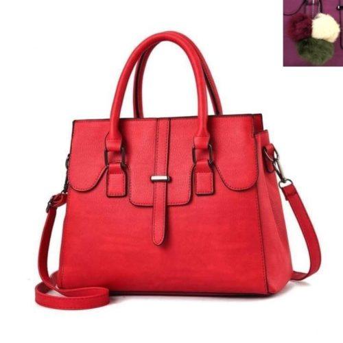 JT18362-red Tas Hand Bag Wanita Cantik Fashion Import Terbaru