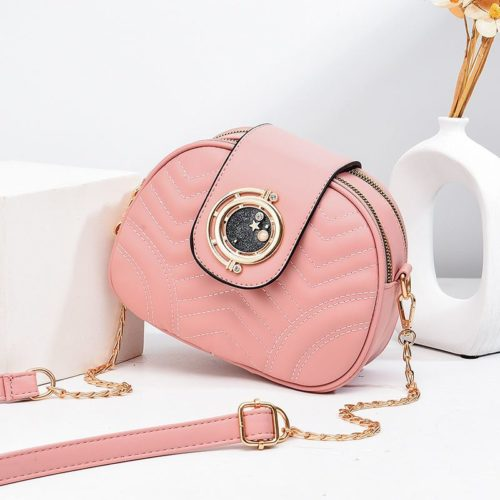 JT1865-pink Tas Selempang Wanita Cantik Import Terbaru