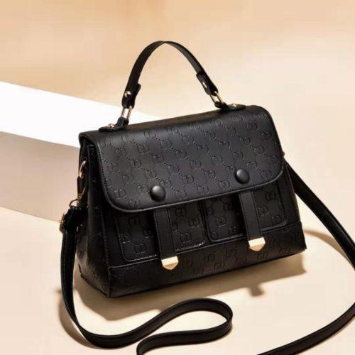 JT18667-black Tas Handbag Wanita Cantik Elegan Import