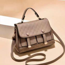 JT18667-khaki Tas Handbag Wanita Cantik Elegan Import