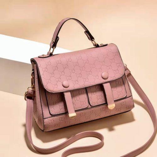 JT18667-pink Tas Handbag Wanita Cantik Elegan Import