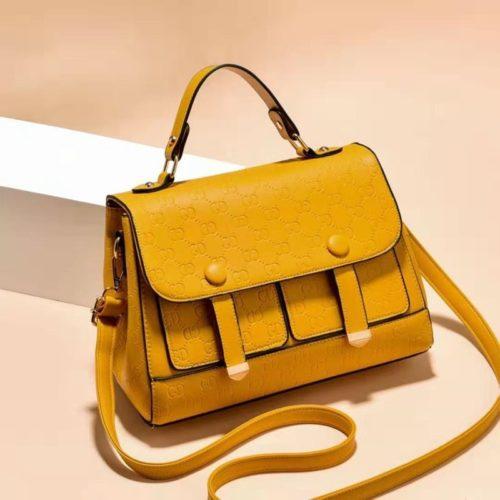 JT18667-yellow Tas Handbag Wanita Cantik Elegan Import