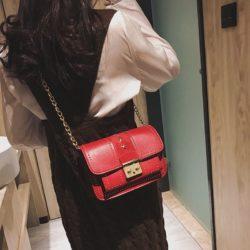 JT1872-red Tas Selempang Clutch Wanita Cantik Elegan