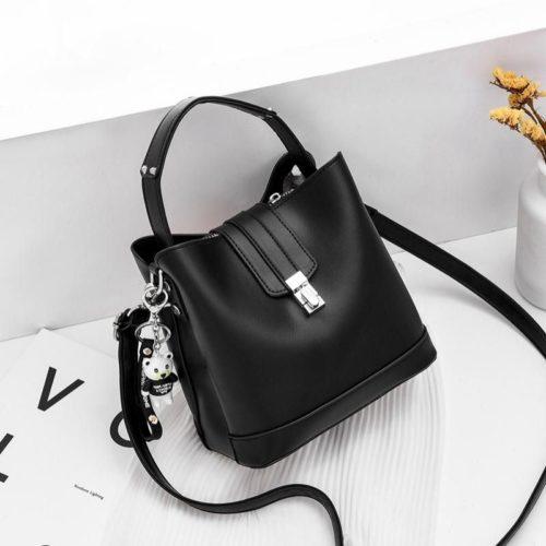 JT18790-black Tas Handbag Selempang Wanita Cantik Elegan Import