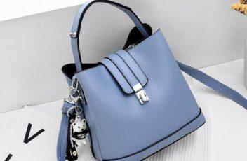 JT18790-blue Tas Handbag Selempang Wanita Cantik Elegan Import