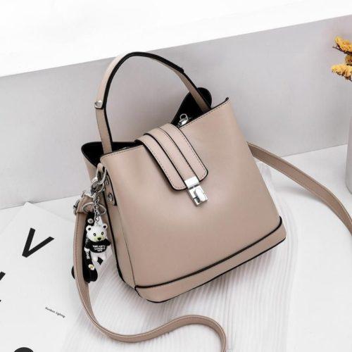 JT18790-khaki Tas Handbag Selempang Wanita Cantik Elegan Import