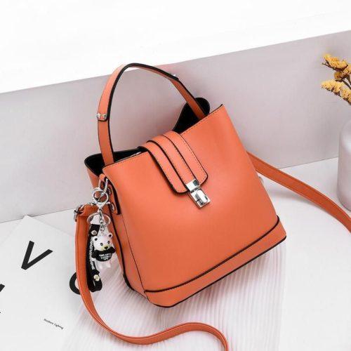 JT18790-orange Tas Handbag Selempang Wanita Cantik Elegan Import