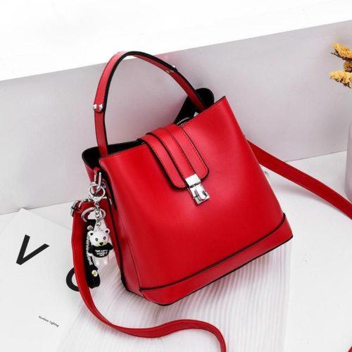 JT18790-red Tas Handbag Selempang Wanita Cantik Elegan Import