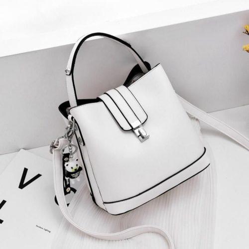 JT18790-white Tas Handbag Selempang Wanita Cantik Elegan Import