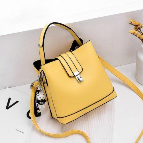 JT18790-yellow Tas Handbag Selempang Wanita Cantik Elegan Import