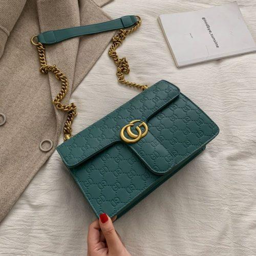 JT18815-green Tas Selempang Import Wanita Cantik Elegan