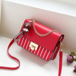 JT1882B-red Tas Selempang Modis Vertical Line Import