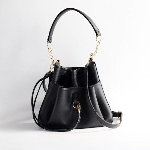 JT1900-black Tas Handbag Serut Selempang Wanita Cantik Import