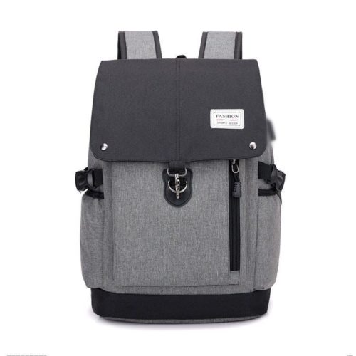 JT1902-blackgray Tas Ransel Fashion Unisex Kekinian Import