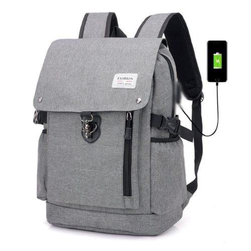 JT1902-lightgray Tas Ransel Fashion Unisex Kekinian Import