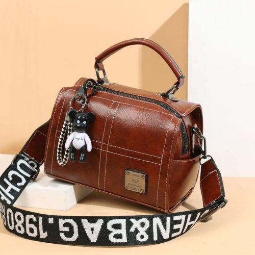 JT1912-brown Tas Slingbag Fashion Gantungan Black Bear Import