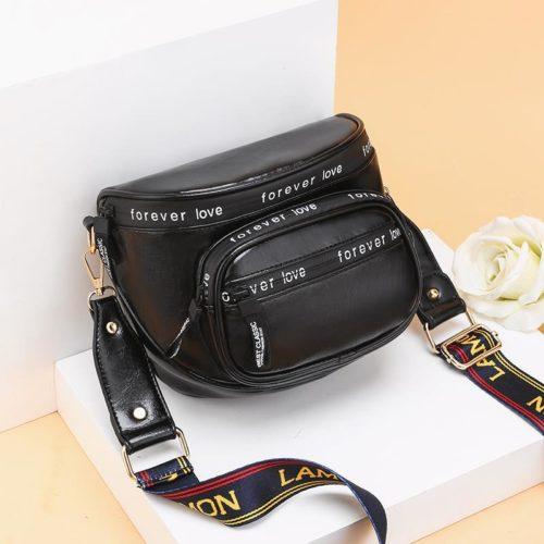 JT19129-black Tas Selempang Fashion Modis Wanita Terbaru
