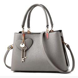 JT19131-gray Tas Handbag Pesta Cantik Gantungan Double Key
