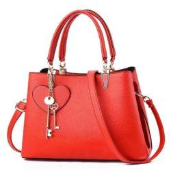 JT19131-red Tas Handbag Pesta Cantik Gantungan Double Key
