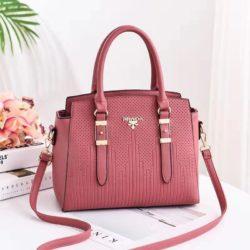 JT19161-darkpink Tas Handbag Selempang Wanita Cantik Import