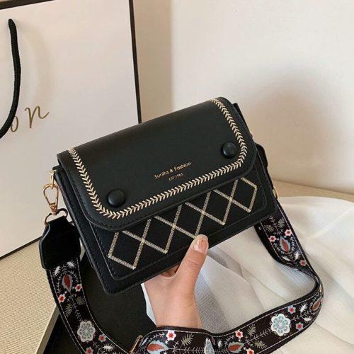 JT1950-black Tas Selempang Fashion Elegan Wanita Cantik Import