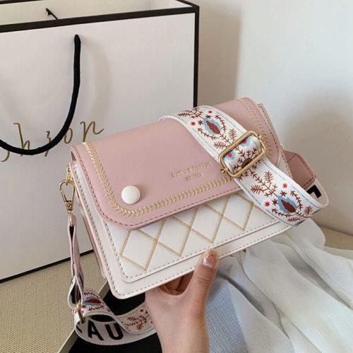 JT1950-pink Tas Selempang Fashion Elegan Wanita Cantik Import