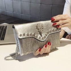 JT2000-silver Tas Selempang Pesta Wanita Cantik Import Terbaru