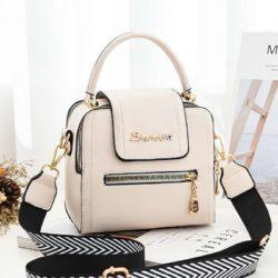 JT2008-beige Tas Handbag Selempang Fashion Wanita Cantik