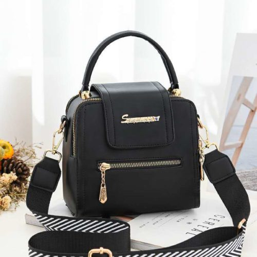 JT2008-black Tas Handbag Selempang Fashion Wanita Cantik