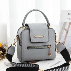 JT2008-gray Tas Handbag Selempang Fashion Wanita Cantik