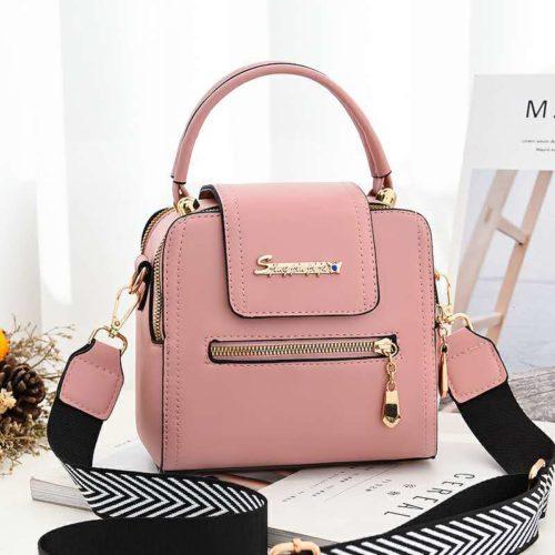 JT2008-pink Tas Handbag Selempang Fashion Wanita Cantik