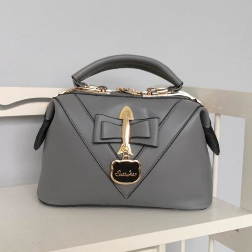 JT20149-darkgray Doctor Bag Selempang Fashion Import Wanita