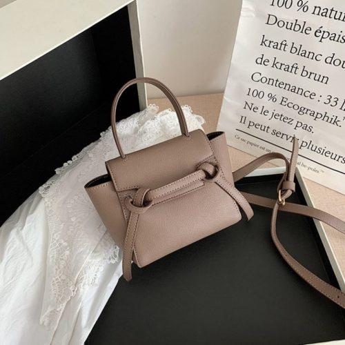 JT2028-khaki Tas Selempang Handbag Modis Wanita Cantik Terbaru