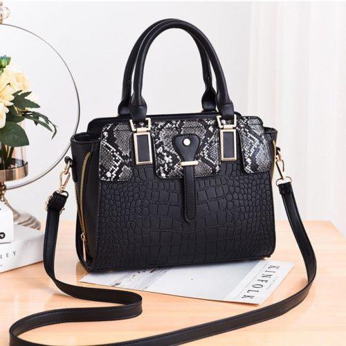 JT20281-black Tas Handbag Wanita Elegan Import Terbaru