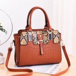 JT20281-brown Tas Handbag Wanita Elegan Import Terbaru
