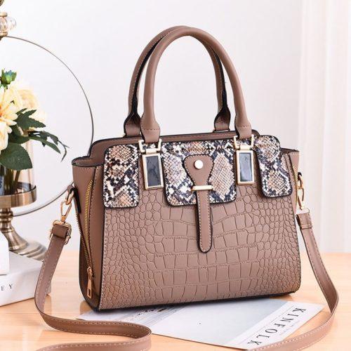 JT20281-khaki Tas Handbag Wanita Elegan Import Terbaru