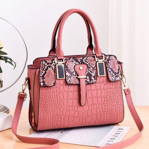 JT20281-pink Tas Handbag Wanita Elegan Import Terbaru