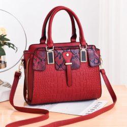 JT20281-red Tas Handbag Wanita Elegan Import Terbaru