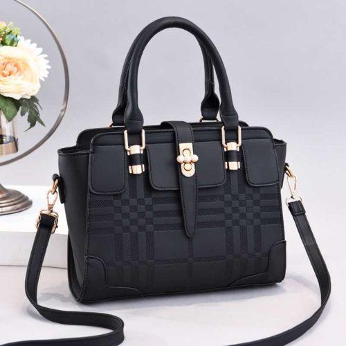 JT20282-black Tas Handbag Wanita Cantik Import Terbaru