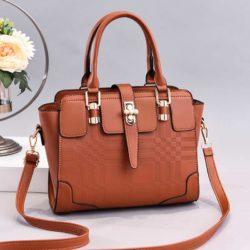JT20282-brown Tas Handbag Wanita Cantik Import Terbaru