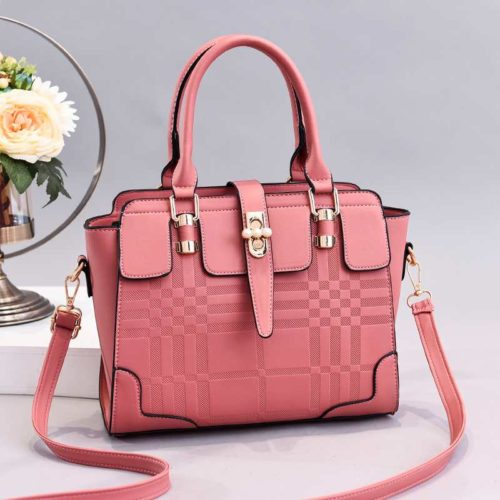 JT20282-pink Tas Handbag Wanita Cantik Import Terbaru
