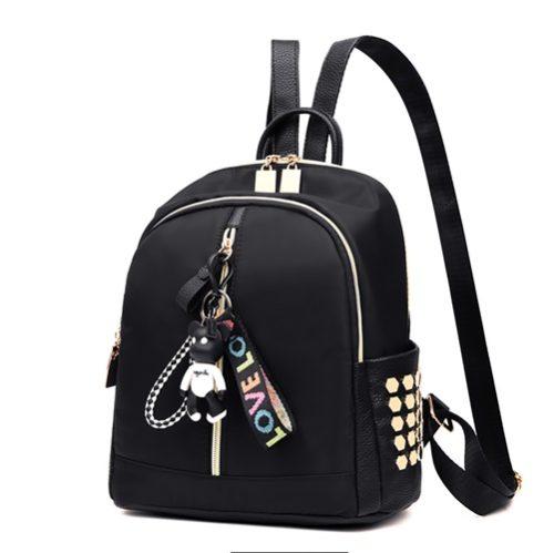 JT2033-black Tas Ransel Wanita Ribbon LOVE Import