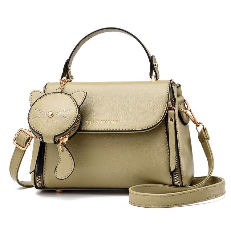 JT20352-green Tas Handbag Selempang Wanita Cantik Import