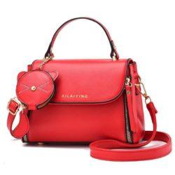 JT20352-red Tas Handbag Selempang Wanita Cantik Import