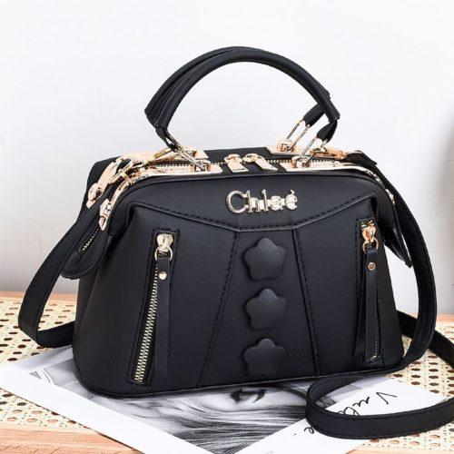 JT2051-black Doctor Bag Selempang Wanita Elegan Import