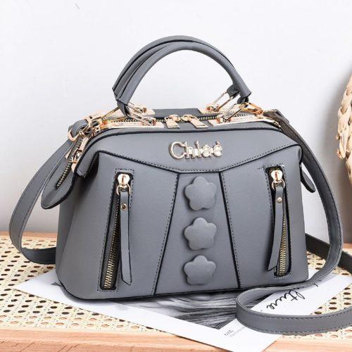 JT2051-gray Doctor Bag Selempang Wanita Elegan Import