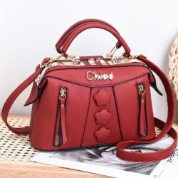 JT2051-red Doctor Bag Selempang Wanita Elegan Import