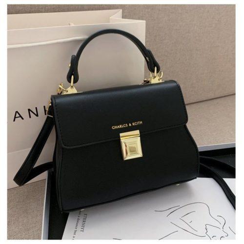 JT2055-black Tas Handbag Selempang Wanita Cantik Import